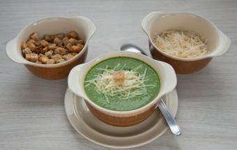 Суп-пюре со шпинатом и брокколи