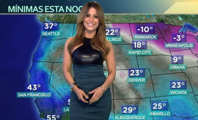 Ведущие прогноза погоды в прямом эфире