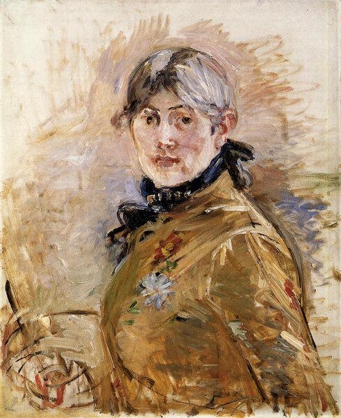 Автопортрет. Берта Моризо, 1885