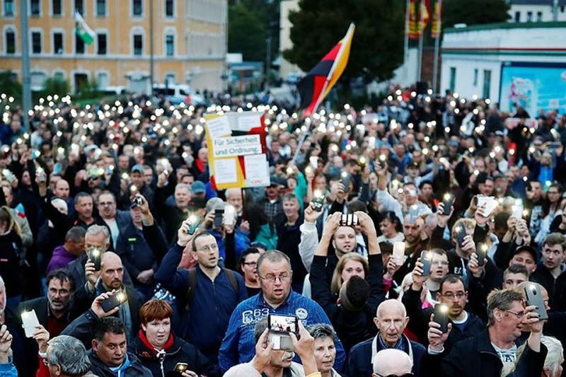 Митинги в Хемнице продолжаются