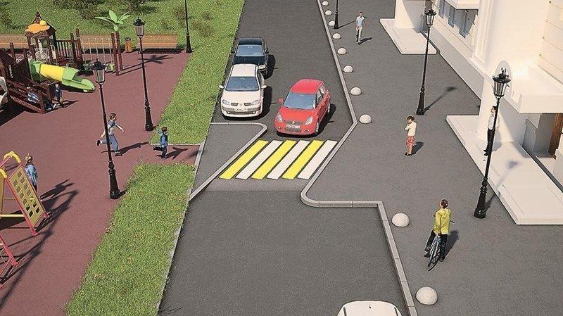 """Пешеходные переходы станут похожи на """"лежачих полицейских"""""""