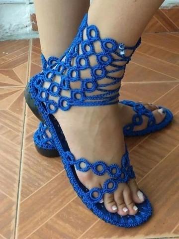 Вязаная обувь своими руками.…