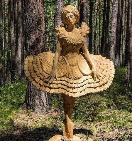 Скульптура из дерева!!! Крас…