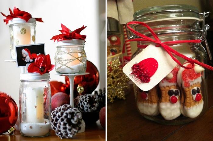 12 идей создания необычного новогоднего подарка и использованием стеклянной банки