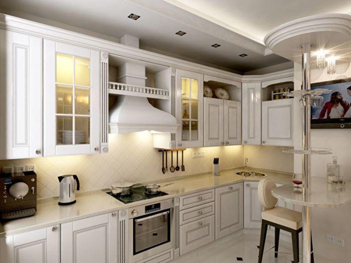 Аккуратная и практичная, классика идеально подойдет для оформления больших и маленьких кухонь.