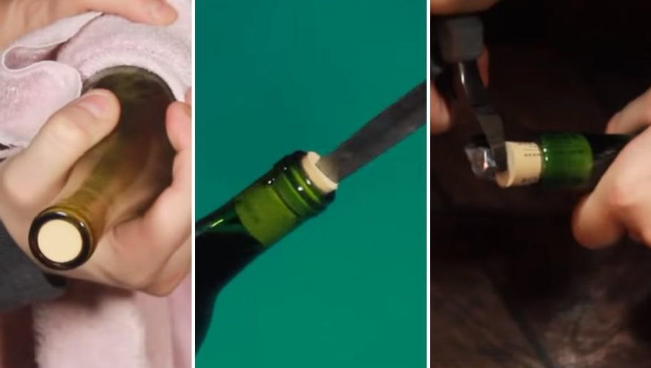 7 способов открыть бутылку вина без штопора