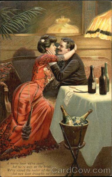 Старинные открытки о любви и  эротике :  как это было у предков