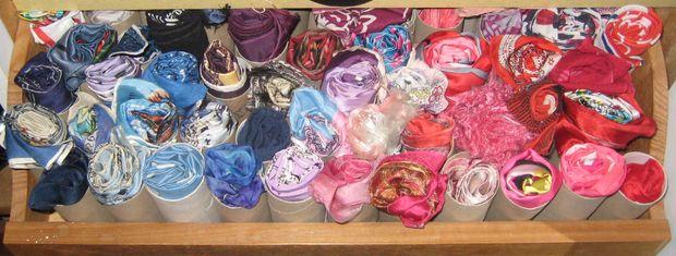шарфы во втулках от туалетной бумаги