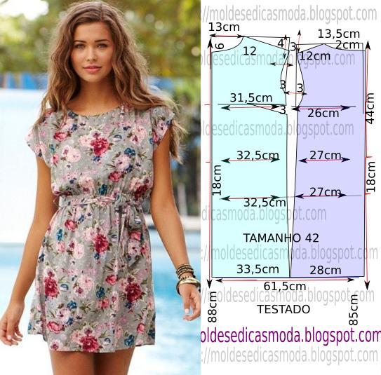 Простая выкройка красивого летнего платья