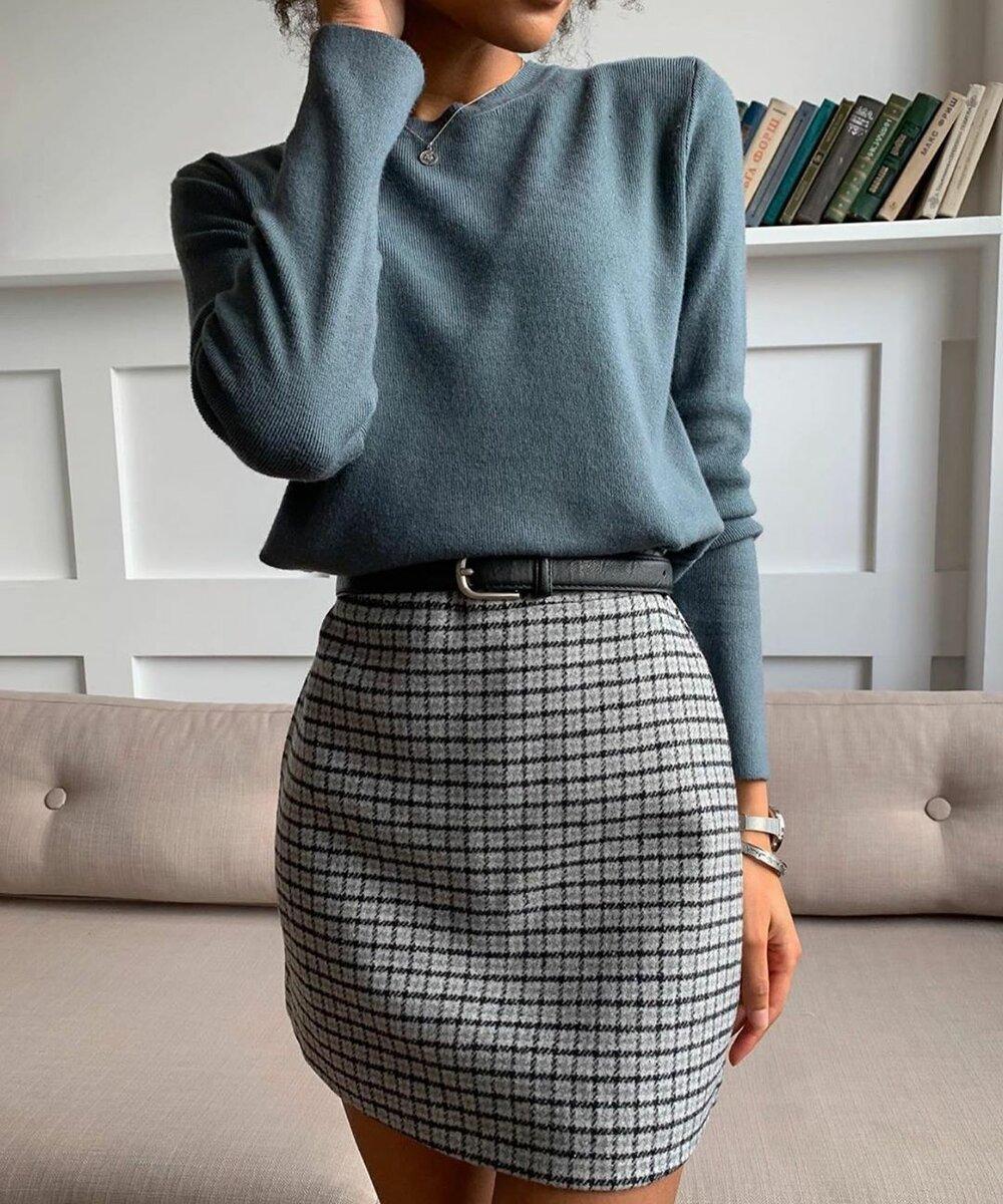 С чем носить клетчатую юбку: 16 удивительных образов на каждый день