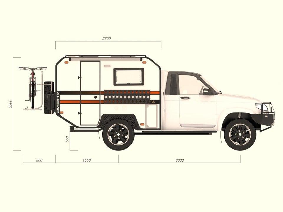 Проект кемпера на базе Уаз Cargo