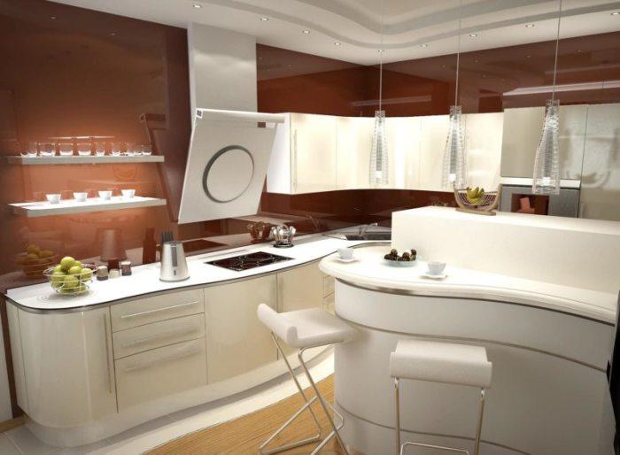 Мебель такого стиля обладает ассиметричными, плавными и изогнутыми формами.