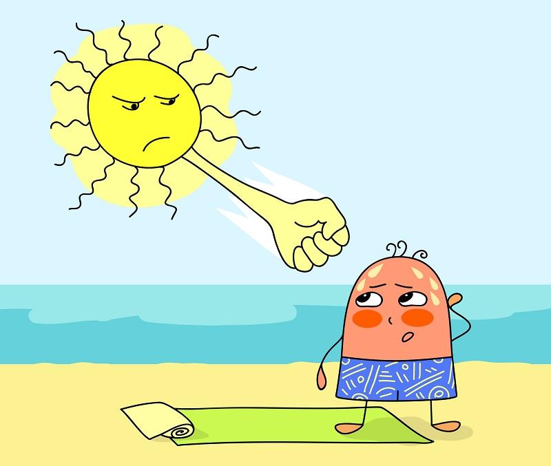 Прикольные картинки тему жара