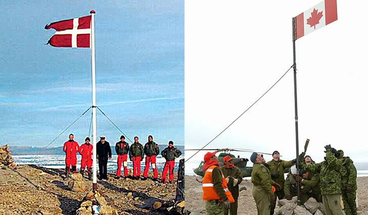 Перетягивание острова: Канада и Дания ведут самую странную войну в истории человечества