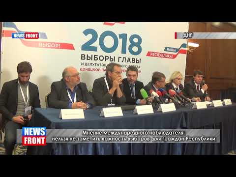 Избирательный процесс в ДНР идет без нарушений, активность избирателей высокая – наблюдатель из РФ