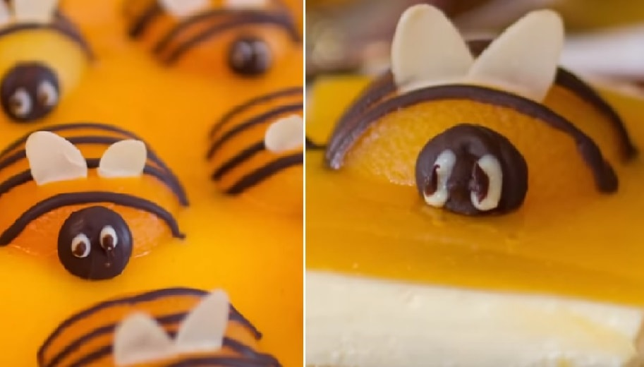 Пчелки-сладкоежки: воздушный десерт с абрикосовым джемом