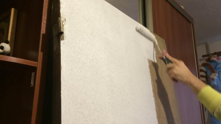 Копеечный способ переделать старую дверь дверь,домашний очаг,,интерьер,переделка,рукоделие,своими руками,умелые руки