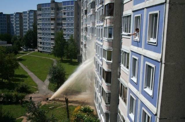 О, горячую воду дали! животные, люди, неудача, плохой день, прикол, фейл, юмор