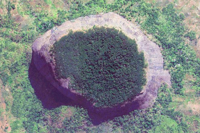 На спутниковых снимках нашли древний затерянный лес на вершине круглой горы