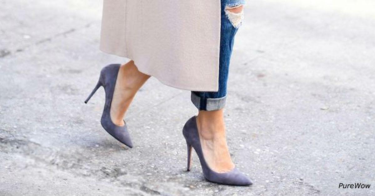 Вот секрет, как носить каблуки весь день - и без боли в ногах!