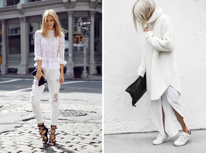 Total white look — одно из с…