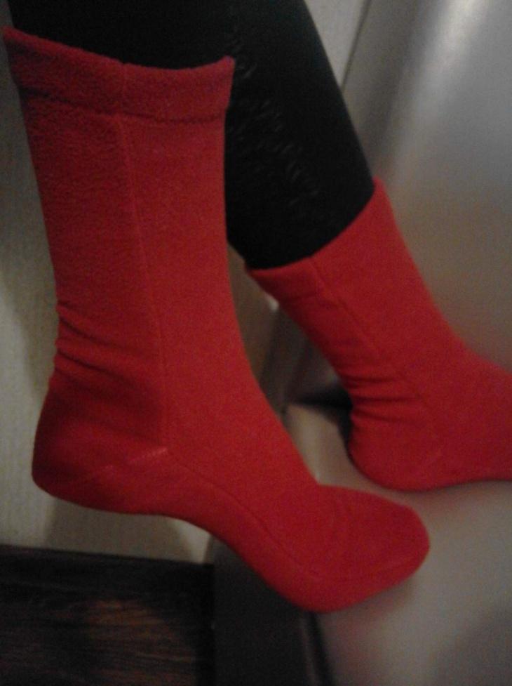 Шьем носочки из флиса