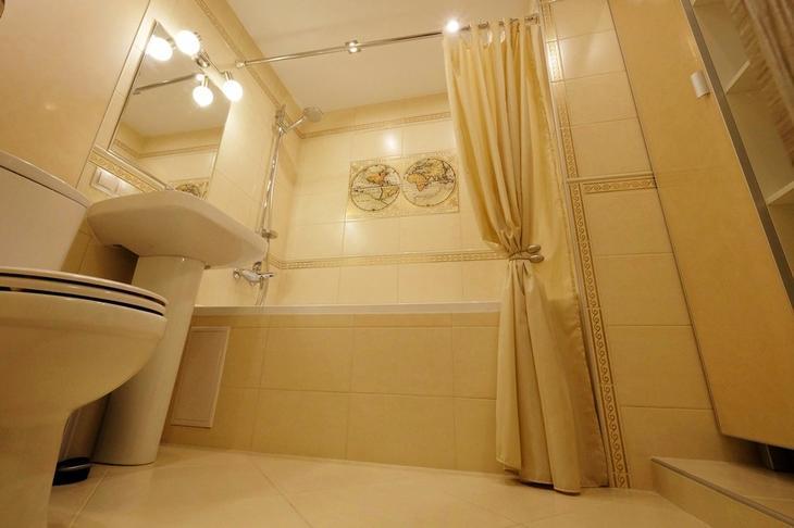 Красивая ванная комната в хрущевке