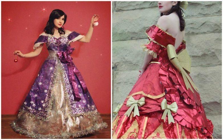 Сказочные платья из упаковочной бумаги