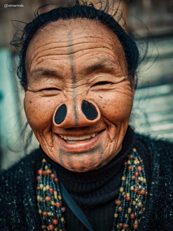 11. апатани, женщина, индия, народ, портрет, традиция, фотография, фотомир