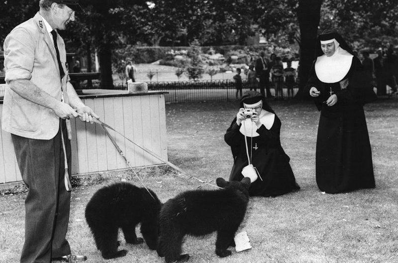 Правда это всё происходит в монастырях в период 1950–1970-х годов в Германии, Англии, Австралии и США. Монастырь, Монахини, интересное, отдых, служители бога, фото, юмор