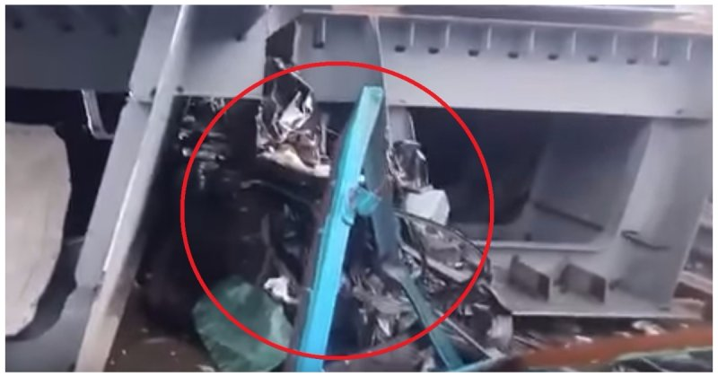 Водитель выжил в страшном ДТП в промышленной зоне и практически не пострадал hyundai, авария, авто, авто авария, везение, видео, дтп, повезло