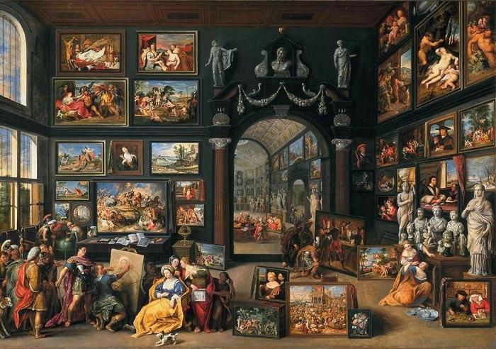 Кунсткамера Виллема ван Хахта: Как в одно полотно поместилась картинная галерея и сюжет древнегреческой легенды