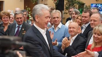 Собянин встретился с командой волонтеров своего избирательного штаба