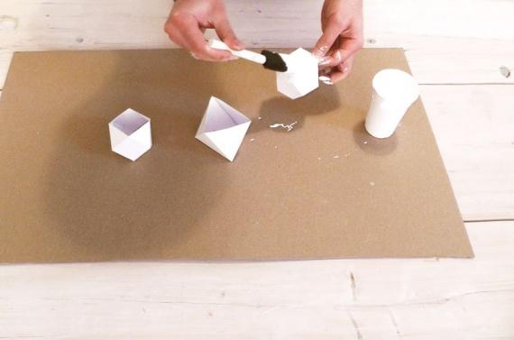 Изготовление многогранных свечей мастер-класс,рукоделие