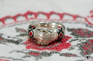Кольцо ручной работы Неразлучники для счастливой семейной жизни