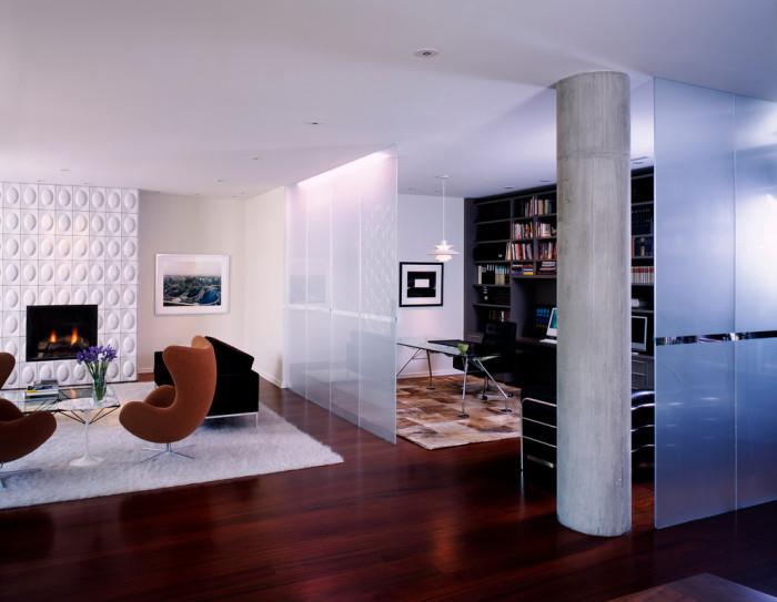 Невероятно стильное и ненавязчивое решение для небольших комнат.