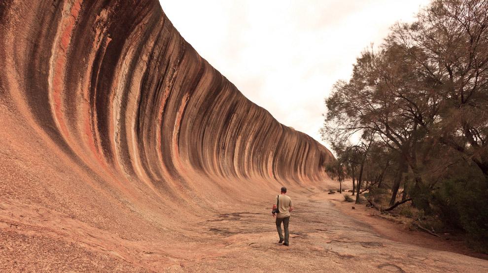 Уникальная каменная волна в Австралии