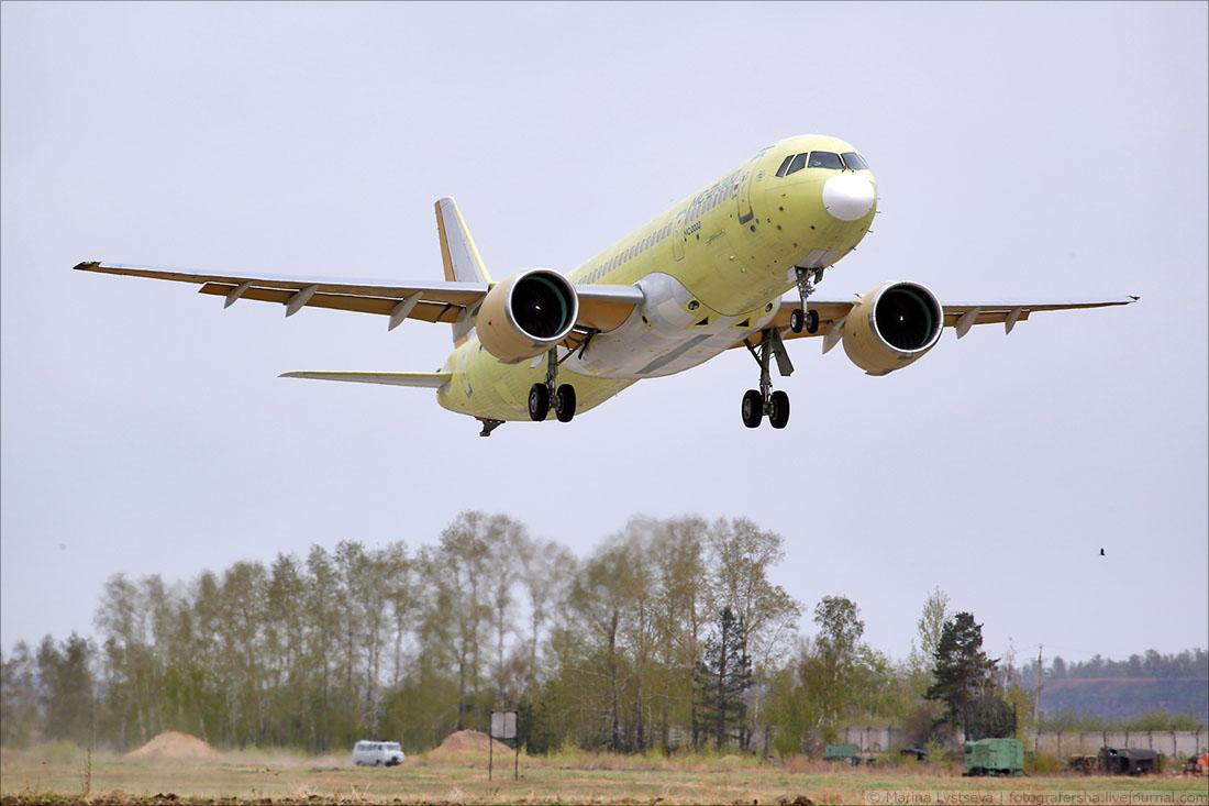 Фоторепортаж Марины Лысцевой: Первый второй полёт МС-21