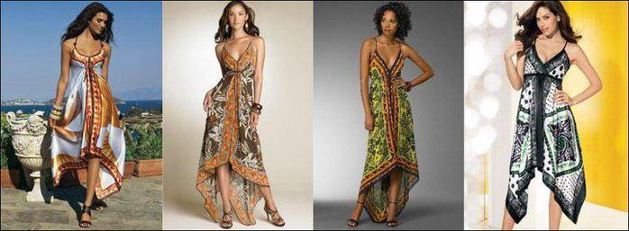 Сарафаны из платков-обновляем гардероб