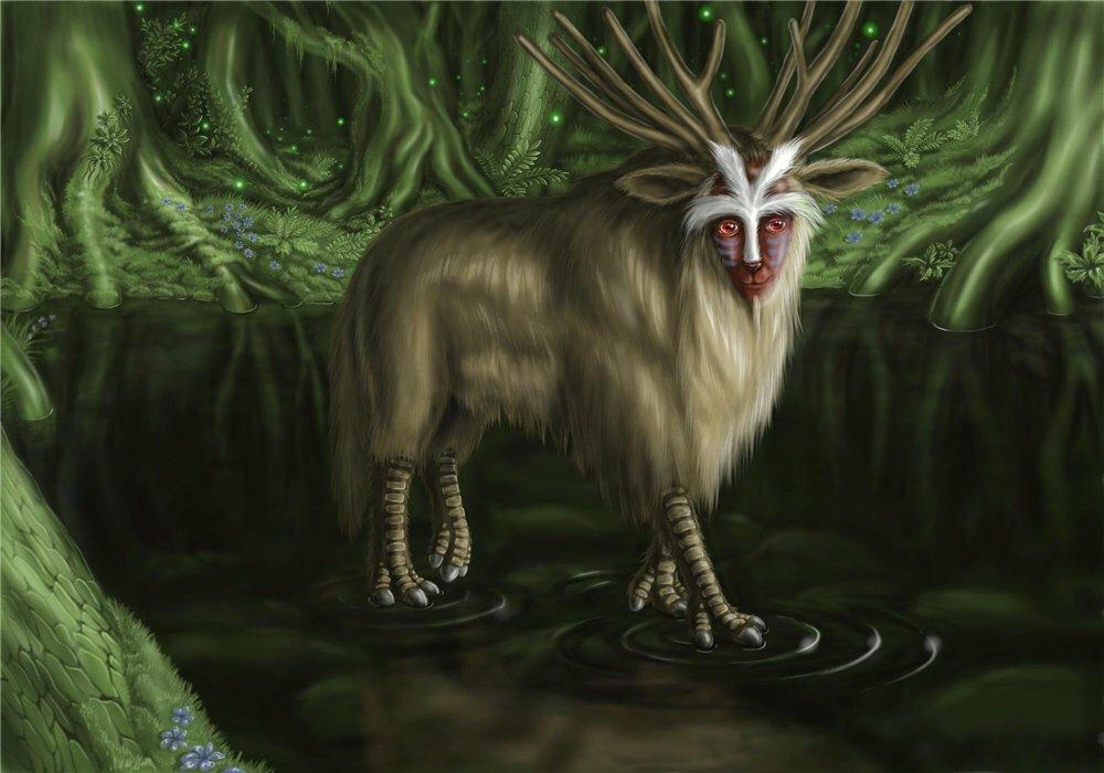 Дух леса из Японского аниме Принцеса Мононоке