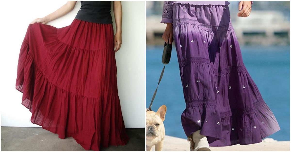 Стильная юбка ярусами: когда выкройка становится ненужной