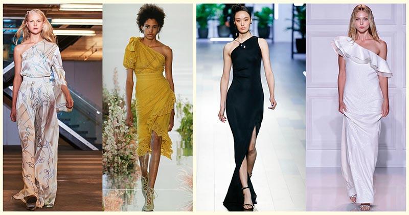 Ассиметричные платья на одно плечо — шикарные модели для шикарных женщин