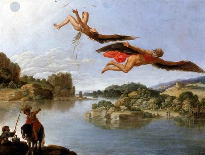 «Падение Икара». Автор: Carlo Saraceni.<br>
