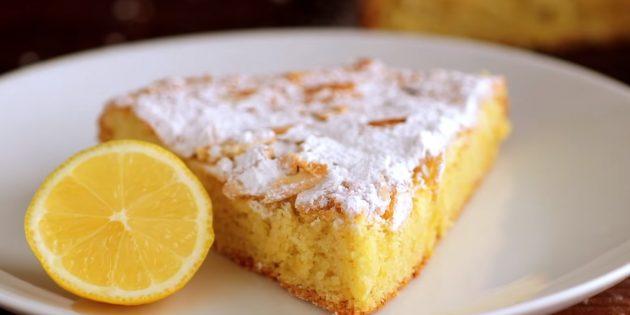 Лимонно-миндальный пирог без муки