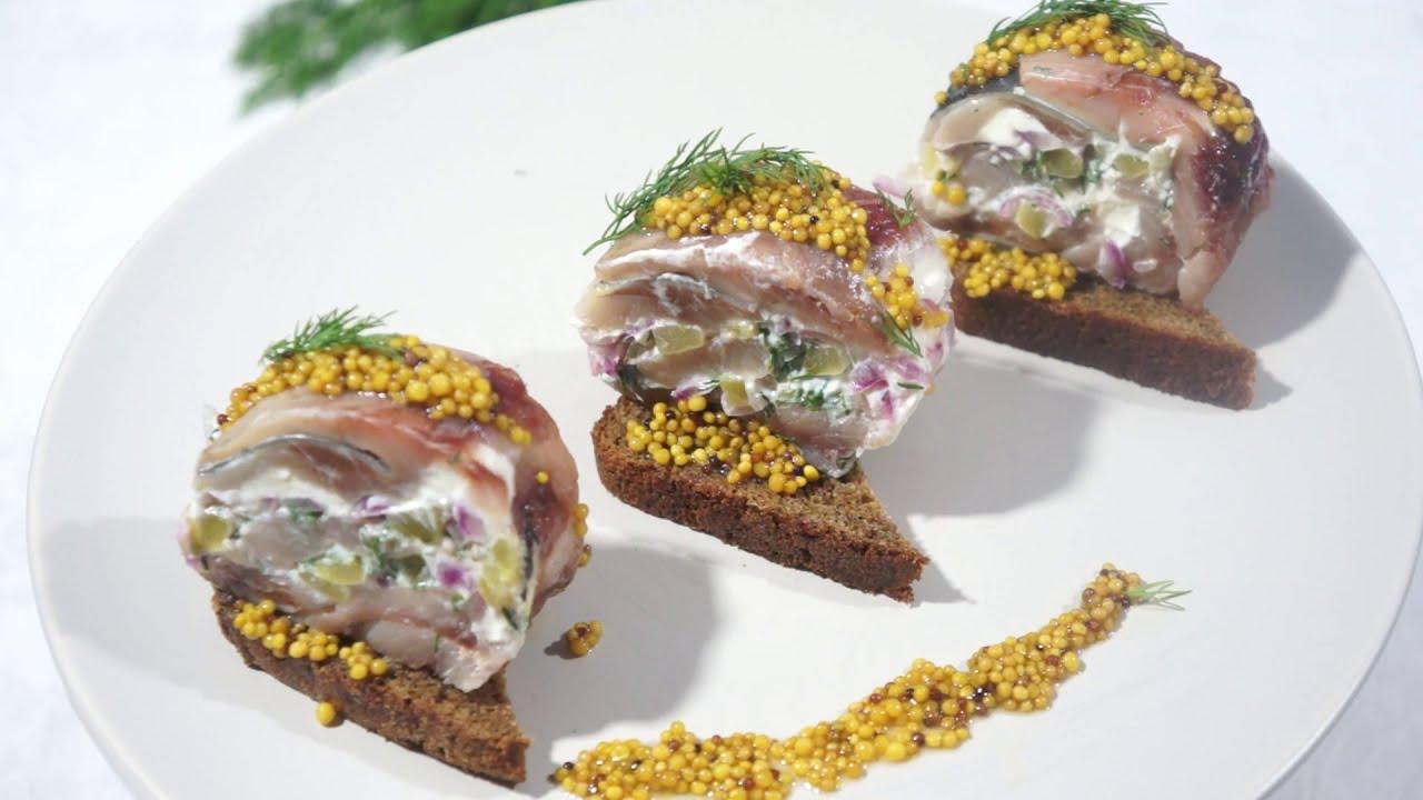 Рулетики из сельди - холодная закуска закуски,рыбные блюда