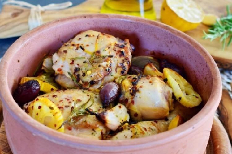 Обалденная курочка по-гречески в духовке