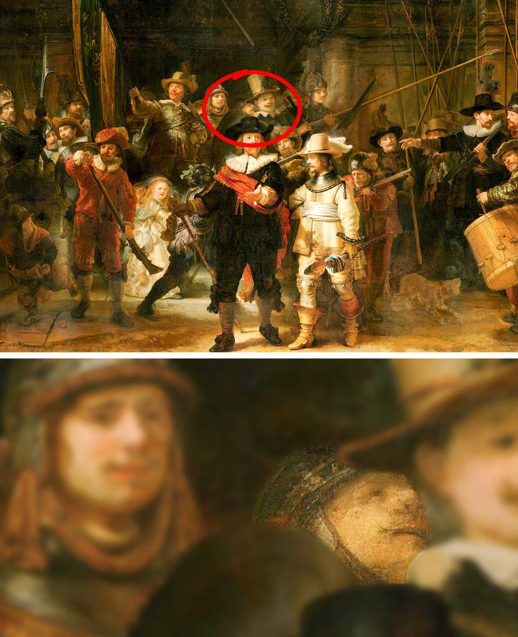 12 известных картин, в которых художники спрятали свои портреты