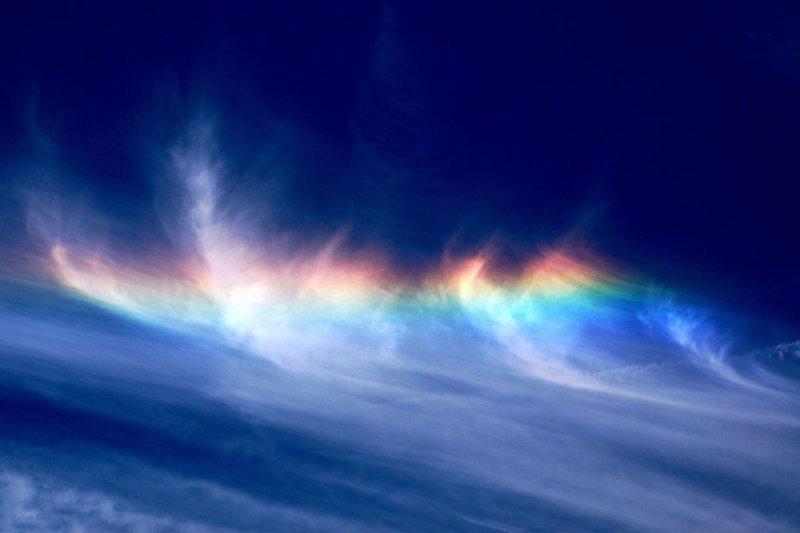 Радуга в облаках природа, природные явления, удивительная природа