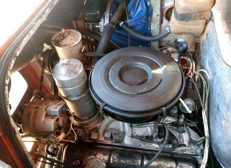 Двигатель сохранился очень хорошо. авто, автобус, восстановление, олдтаймер, паз, реставрация, ретро авто