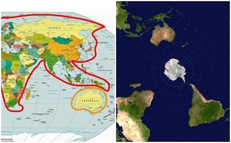 20 странных и забавных географических карт, которые все же существуют
